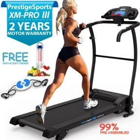 XM-PRO III™ Motorised Folding Treadmill With 3 Level Incline & MP3